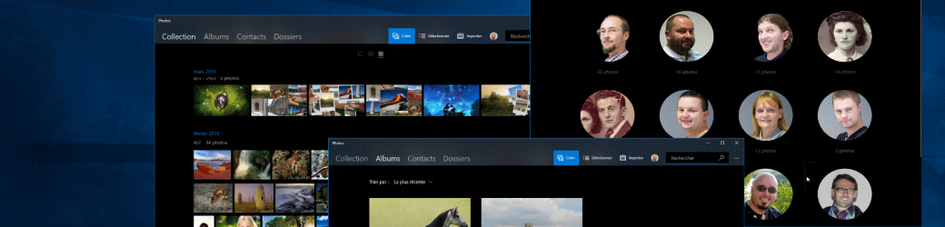 Photos avec Windows 10