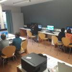 Atelier informatique à Camphin avec enfants et ordinateures